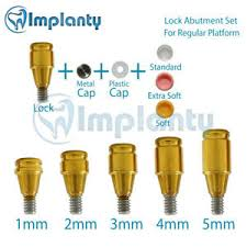 Details About Lock Abutment Rp Full Set Dental Implant Conical Connection Fit Nobel Active