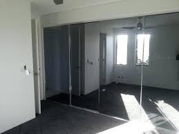 mirror closet doors wall frameless bifold bathroom with shiplap accent wonderful