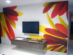 Wall Paint Designs For Living Room Outstanding Wall Painting Ideas For Living Room