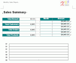 Free Word Report Template Monthly Sales 2