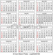 Annual Calendar 2015 Calendar 2015