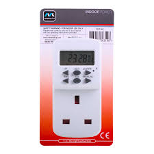 Electronic Light Timers Argos Masterplug Te7 Mp 7 Day Plug In Digital Timer Switch Daily Weekly