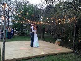 U Rustic Wooden Dance Floor Made With Cedar Slats