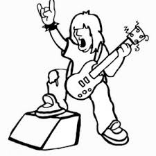 Small Picture Rock Star Coloring Pages Birthday Printable
