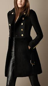 michael kors women s winter wool blend black peacoat military jacket