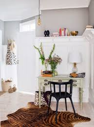 home office dark blue gallery wall. Lovely Feminine Home Office Decorating Ideas Gallery Dark Blue Wall N