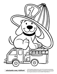 Small Picture Firedog Clifford Coloring Page childrens stuff Pinterest