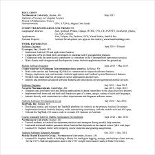 Developer Resume Examples New 48 Android Developer Resume Templates Sample Templates