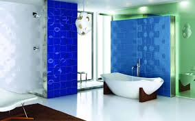 blue bathroom tile ideas: super modern blue and white super modern blue and white bathroom decor ideas with unique tiles