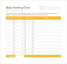 Sample Baby Feeding Chart 7 Documents In Pdf
