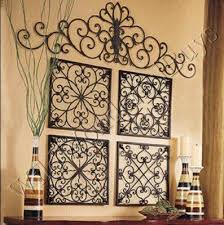 square wrought iron wall grille decor