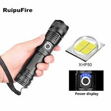 Water Light Flashlight Us 15 99 Ruipu Fire Xhp50 Water Resistant Handheld Led Light 90000 Lumens Telescopic Usb Zoom Torch Waterproof Camping Flashlight On Aliexpress