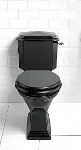 imperial black close coupled toilet seat and white cover beware