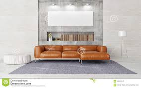 Modern Furniture For Living Room Modern Sofa Mock Up Poster In Contemporary Living Room Stock