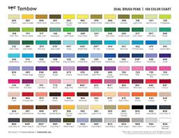 Tombow Dual Brush Pen Blank Color Chart Details About Tombow Dual Brush Pen Grayscale