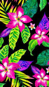 Bright Neon Flowers Wallpaper (Page 1 ...