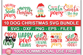 Are you searching for christmas hat png images or vector? Dog Christmas Svg Bundle Pre Designed Illustrator Graphics Creative Market