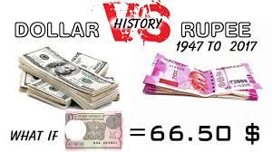 Dollar Vs Rupee 1947 2017 What If 1 Rupee 66 50