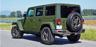 16 jeep wrangler unlimited 75th anniversary rearview
