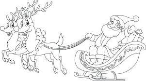 Santa And Reindeer Coloring Page P5291 Reindeer Coloring Pages