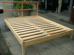 how to make a simple bed frame simple wood frame bed frames how to make platform