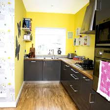 Yellow And Grey Kitchen Long Blue Island Color Ideas Best Modern Kitchens White Wall