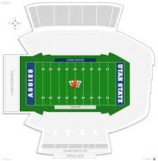 Usu Football Stadium Seating Chart Maverik Stadium Utah State Seating Guide Rateyourseats Com