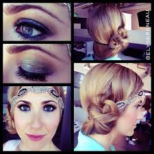 relaxed hair model according to great gatsby inspired hair and makeup elyse reneau makeup great