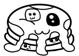Cute Food Coloring Pages Print Coloring