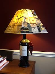 wine bottle lamp shades table diy best inspiration for 2