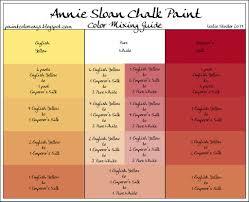 Annie Sloan Chalk Paint Color Chart Color Studies Colorways With Leslie Stocker
