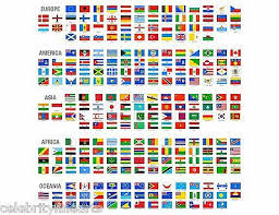 English County Flags Chart Large A1 Size Modern World Map Flags Time Zones Uk County