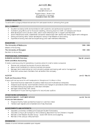 Sample Of Good Resume Resumes For Fresh Graduate In Malaysia
