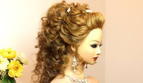 curly prom wedding hairstyle for long hair makeup videos makeup trends makeup trends