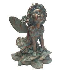 suffolk fairies 14 in fairy penelope bronze patina collectible garden statue
