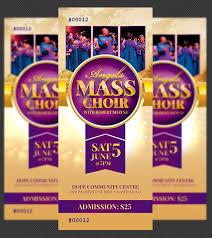 Mass Choir Concert Ticket Template Mass Choir Concert Tick Flickr