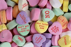 sarcastic candy hearts valentines day