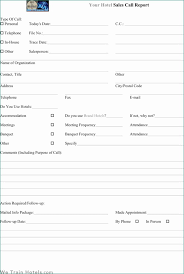 Call Report Template Magnificent Sales Call Report Templates Find