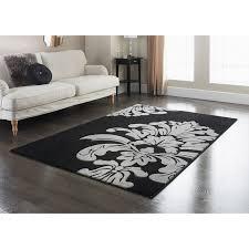 310831 310832 black damask rug