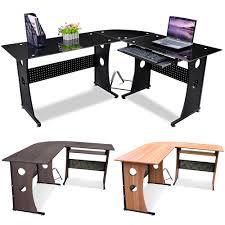 designer computer desks for home. new l-shape designer computer corner desk pc study table home office furniture | ebay desks for k