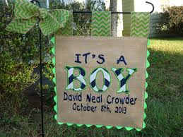 Small Picture Burlap Garden Flag Its a Boy Custom Welcome Baby