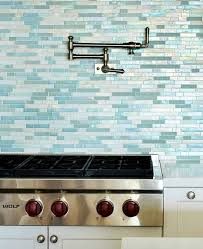 Kitchen With Glass Tile Backsplash New Turquoise Blue White Beach Theme Kitchen Coastal Kitchen