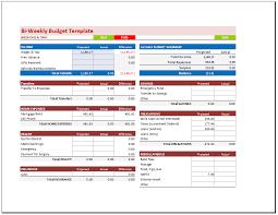 Personal Weekly Budget Templates Bi Weekly Budget Planner Template Budget Templates
