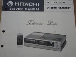 hitachi vt 8e vt tu8e vcr video cassette tape deck service manual image is loading hitachi vt 8e vt tu8e vcr video cassette