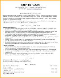 Pilot Resume Examples Pilot Resume Template Air Force Sample