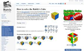 Rubik's Cube Pattern To Solve Mesmerizing How To Solve The Rubik's Cube Beginners Method
