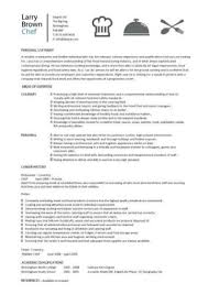 Chef Cv Template Chef Resume Sample Examples Sous Chef Jobs Free