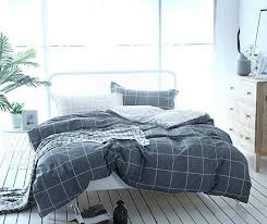 3 piece simple geometric square pattern bedding sets collections modern and fashionable plaid cotton