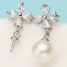 pearl earrings mountings beautiful hot whole earrings findings earrings settings jewelry stud earrings accessories xcyz48388
