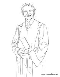 Attorney Coloring Page In Lawyer Coloring